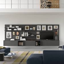 built in tv wall contemporary tv wall unit wooden with built in light with