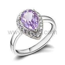 Wedding Rings For Her by Custom Name Amethyst Silver Unique Promise Ring For Her