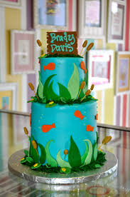 Fishing Themed Baby Shower - gone fishing baby shower cake www leahssweettreats com custom