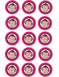 free printable monkey cupcake toppers google search baby