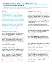 business summary templates