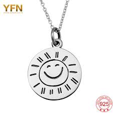 Sterling Silver Engravable Jewelry Aliexpress Com Buy Yfnwomen Jewelry 925 Sterling Silver Smile