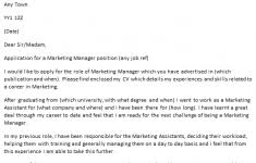 marketing graduate cover letter mazury me