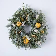 citrus wreath on food52