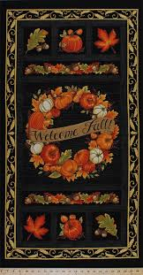 23 5 x 44 panel welcome fall harvest wreath pumpkins pumpkin