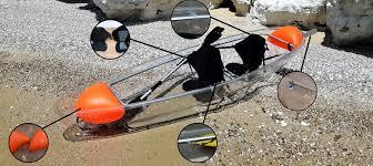 single clear kayak