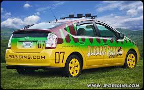 jurassic park tour car jurassic park prius revealed photo jurassic park origins