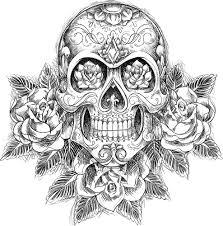 coloring pages sugar skull