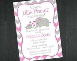 Elephant Decorations For Baby Shower Baby Shower Invitation Cards Baby Shower Invitations Elephant