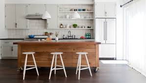 interiors kitchen simo design puts large kitchen island on wheels