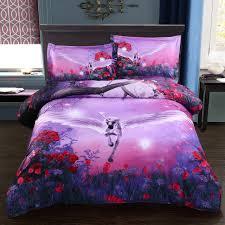 Unicorn Bed Set Wowelife Fly Unicorn Bedding Sets Polyester 3d Set 4pcs With Duvet
