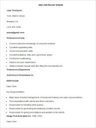 Clerical Job Resume by Sales Resume Template U2013 41 Free Samples Examples Format