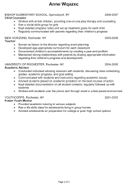 Youth Counselor Resume Sample by Sample Counselor Resume Jennywashere Com