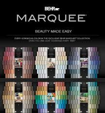behr marquee interior one coat color collection paint and primer