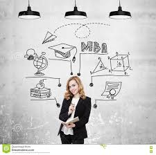 mba sketch and pretty woman stock image image 76451881