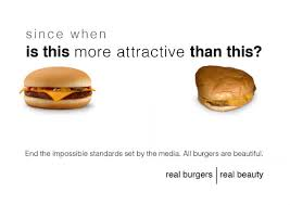 Meme Burger - these photoshopped images create unrealistic expectations for