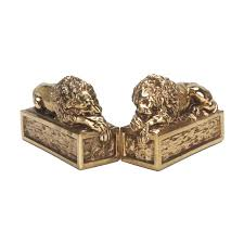 bookends lion lion bookends for rent event decor rental