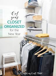 my husband finally gets an organized closet for the new year