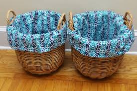 personalized wicker easter baskets picture of how to make diy basket liners for baskets heartwork