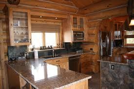 pics photos luxury cabin kitchen modern 7 log home gourmet