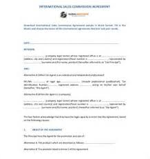 28 commission fee agreement template sample commission