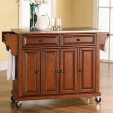 glamorous crosley kitchen island cherry finish with raised panel