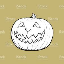 jack o lantern pumpkin with scary face traditional halloween