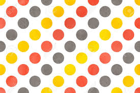 yellow with pink polka dots watercolor yellow salmon pink and gray polka dot background