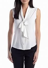 sleeveless tie neck blouse calvin klein tie neck blouse belk