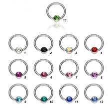 nose rings ball images Stainless steel captive bead nose rings flat ball closure ring jpg