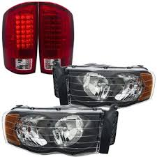 2003 dodge ram tail lights dodge ram 2500 2003 2005 black headlights and led tail lights red
