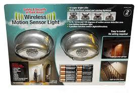 capstone wireless motion sensor light 2 pk megabrite 12 led wireless motion sensor light 2 pack 8 duracell