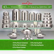 kitchen canisters stainless steel kitchen storage containers in india at best price on naaptol