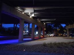 new lights landscaping brighten clay wade bailey bridge in covington