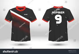 black red layout football sport tshirt imagem vetorial de banco