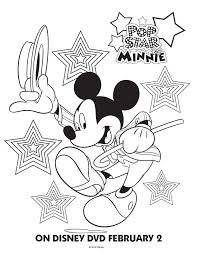 pop star minnie mouse printable coloring pages u0026 friends