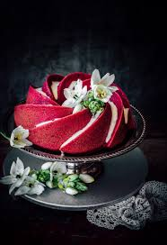 red velvet bundt cake use beet juice as a healthy alternative to