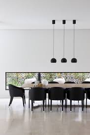 Light Dining Chairs Black Pendants Lights Dining Room Modern With Timber Dining Table