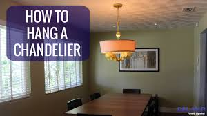 Replace Chandelier How To Hang A Chandelier Youtube