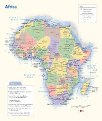 africa map map africa political wall map maps