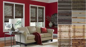 accessories red wall with tall glass window and 3 day blinds plus