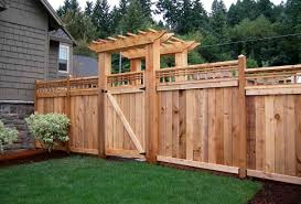 Privacy Fence Ideas For Backyard Fence Front Yard Fence Designs Stunning Backyard Fence Gate