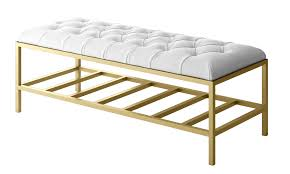 white tufted bench luxury modern bench contemporary entryway