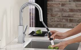 types of kitchen faucets nickel kitchen faucets the home depot throughout pull faucet