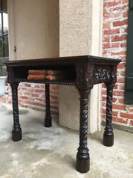 Oak Sofa Table Antique Oak Barley Twist Drop Leaf Gate Leg Sofa End