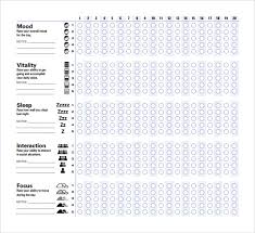 sample mood chart forms 7 download free documents in pdf word