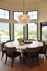 kitchen design ideas dining table pendant lights nighttime