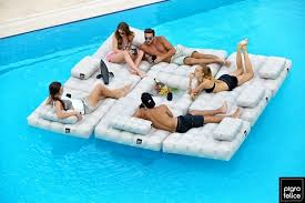 floating table for pool modul air pool float and deck furniture