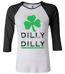 vintage dilly dilly st patrick u0027s day raglan juniors baseball