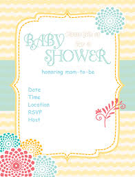 design free baby shower invitations